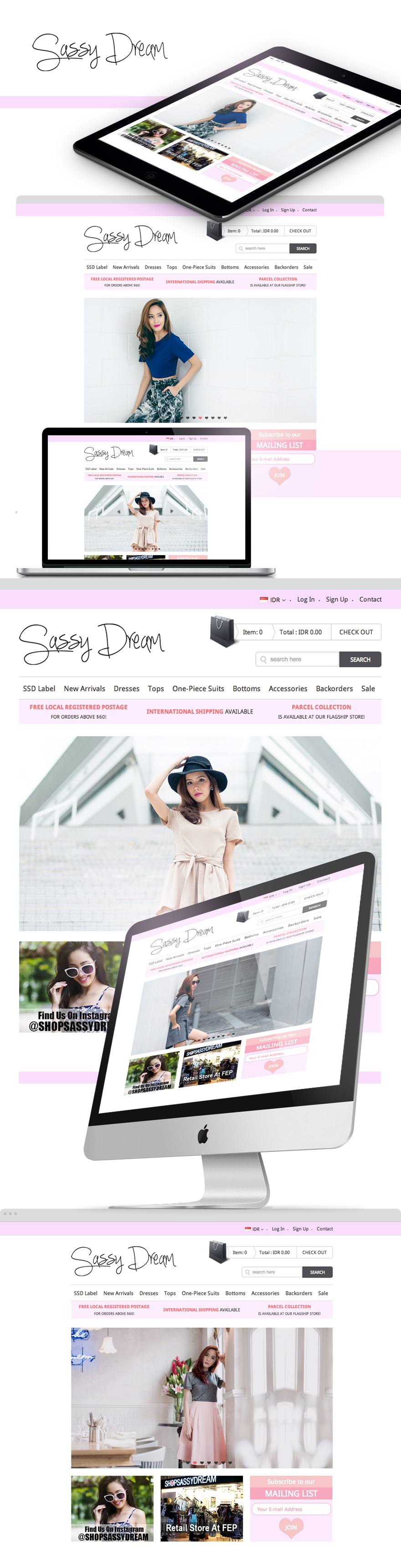 Projects - Shop Sassy Dream