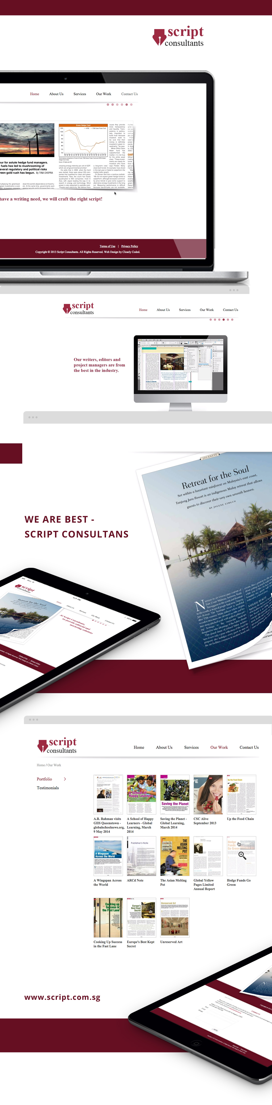 Projects - Script Consultants